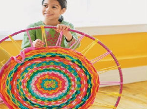 Winter Craft Ideas - Hula Hoop Rug