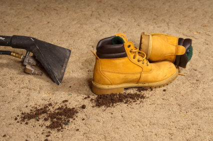 Dirty Work Boots on Carpet