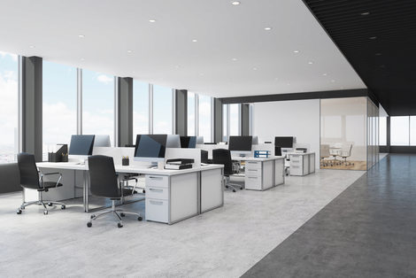 Office Space with desks