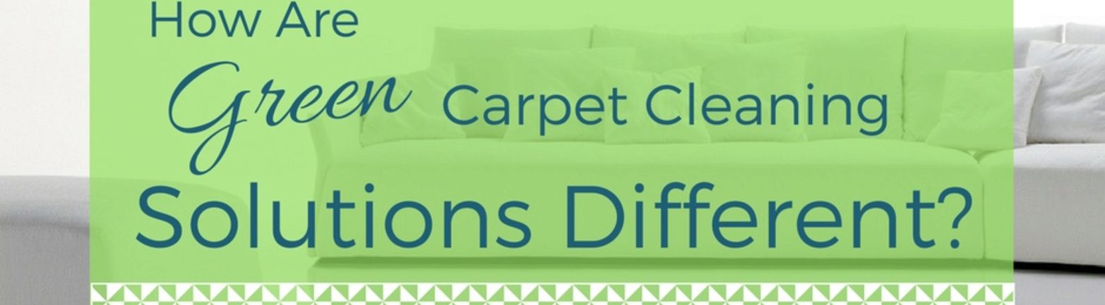 How Are Green Carpet Cleaning Solutions Different?