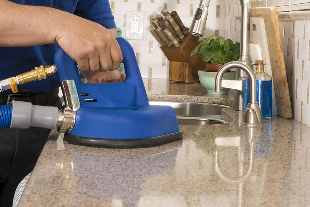 Steam mop cleaning natural stone